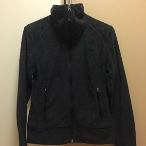 Black Zip Up North Face Jacket